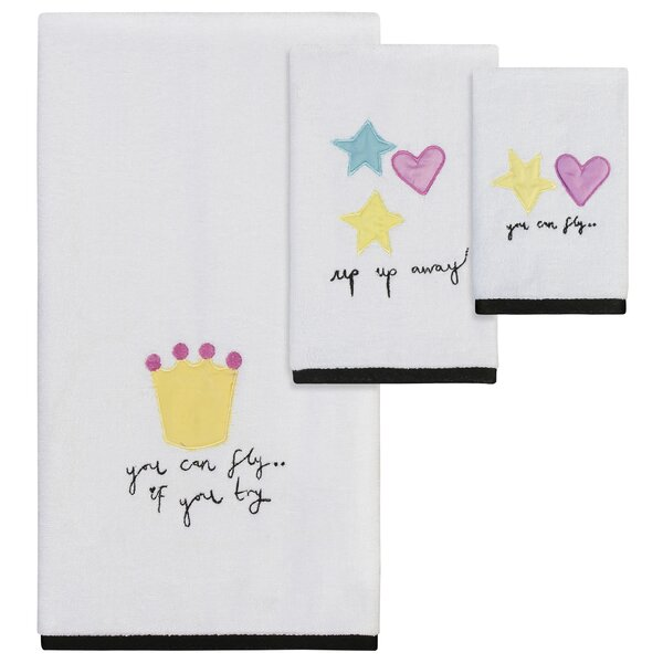 Helen 3 Piece 100% Cotton Towel Set by Zoomie Kids